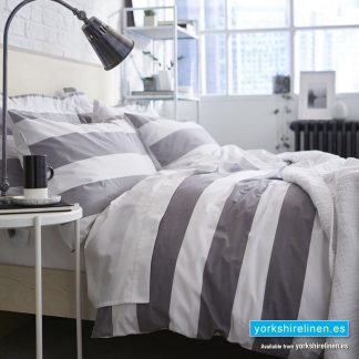 BCS Ombre Stripe Duvet Cover Set, Grey