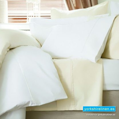 Bel 600TC Cotton Sateen Flat Sheet White