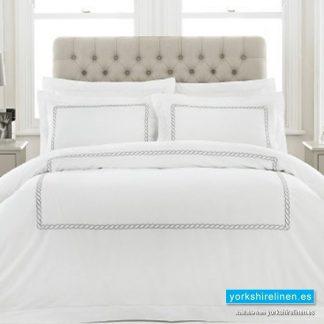 Cleopatra 100pc Cotton Silver Duvet Cover Set