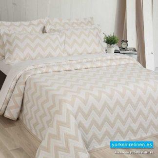 Diagonal Natural Bedspread