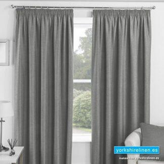 Essence Blackout Pencil Pleat Curtains, Grey
