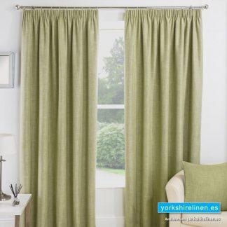Essence Blackout Pencil Pleat Curtains, Natural