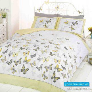 Flutter Yellow Duvet Cover Set