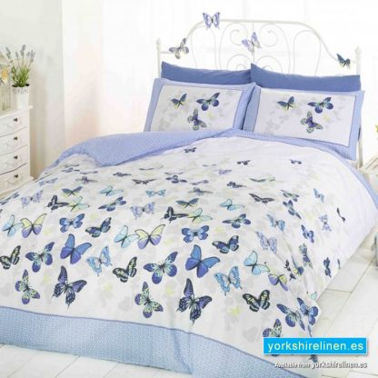 Flutter Blue Duvet Cover Set