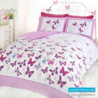 Flutter Pink Duvet Cover Set