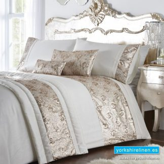 Krista Rose Gold Duvet Cover Set