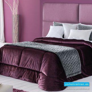 Deluxe Bedspread, Aubergine - Yorkshire Linen Warehouse Mijas Marbella