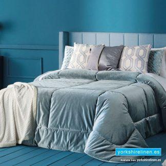 Deluxe Bedspread, Duck Egg Blue - Yorkshire Linen Warehouse Mijas Marbella