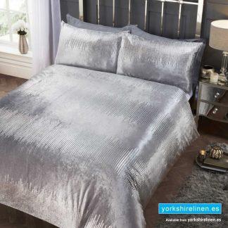 Tiffany Velvet Silver Duvet Cover Set