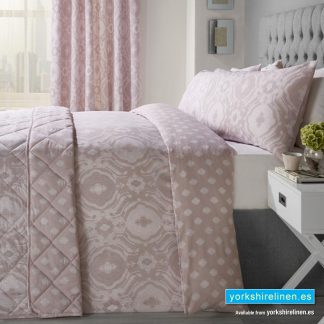 Alford Duvet Cover Set, Blush Pink