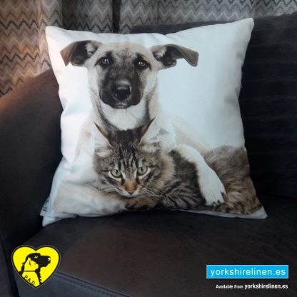 Cute Tabby Kitty Complete Cushion - Yorkshire Linen Warehouse