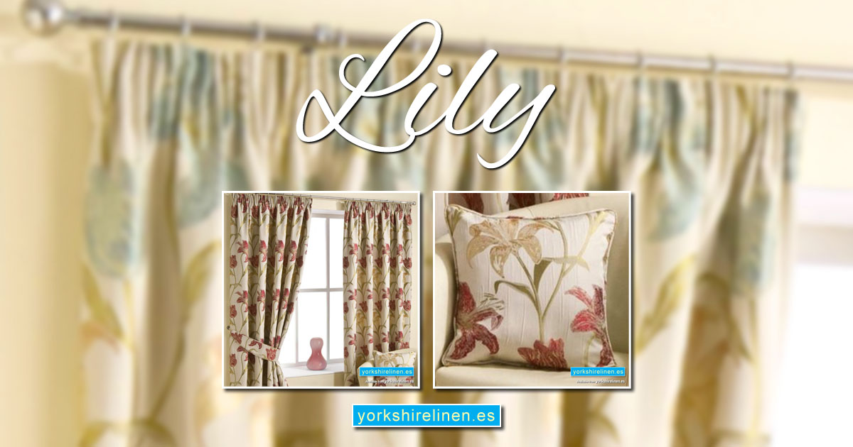 Lily Curtains - Extra Length, Heavyweight Curtains with Matching Cushions