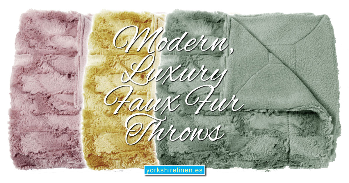 Luxury Modern Faux Fur Throws - Yorkshire Linen Warehouse Mijas Marbella
