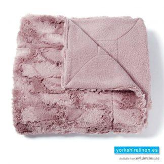 Luxury Modern Fur Throw, Rose - Yorkshire Linen Warehouse Mijas Marbella
