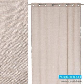 Metallic Linen Curtains Natural - Yorkshire Linen Warehouse, Mijas Marbella