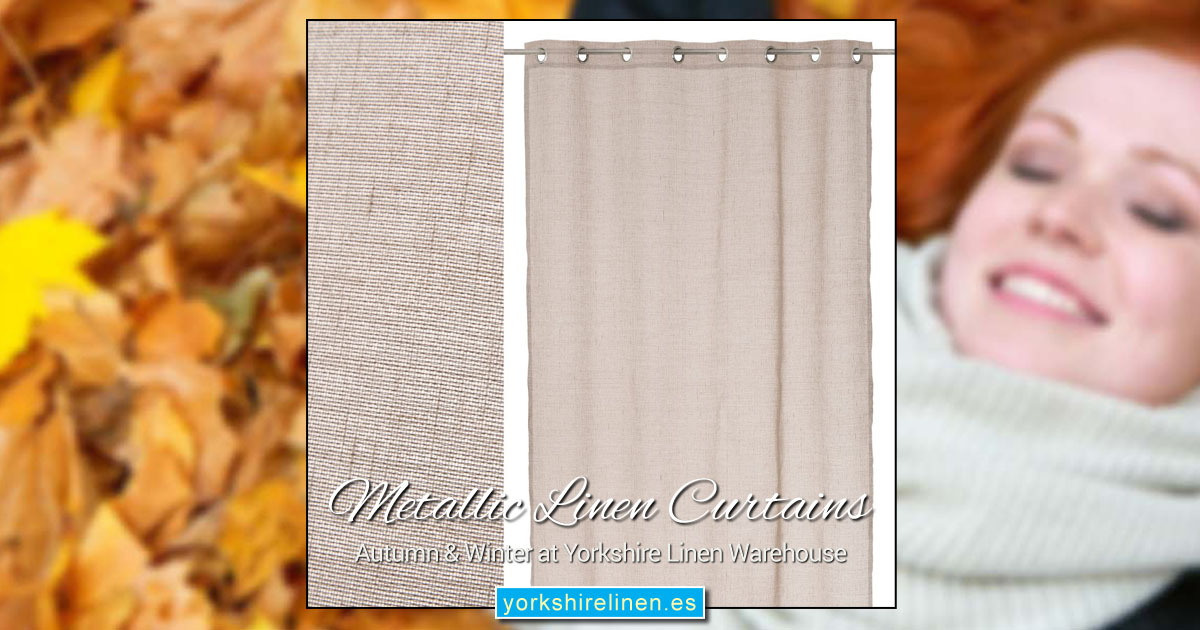 Metallic Linen Curtains - Yorkshire Linen Warehouse, Mijas Marbella