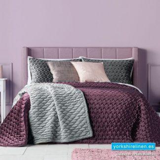 Serene Bedspread, Aubergine - Yorkshire Linen Warehouse