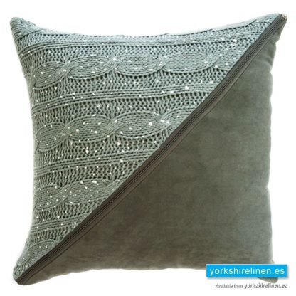 Slow Cushion Grey - Yorkshire Linen Warehouse Mijas Marbella