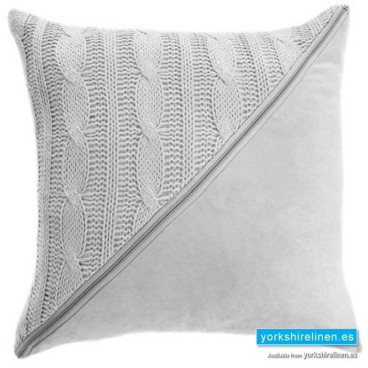 Slow Cushion White - Yorkshire Linen Warehouse Mijas Marbella
