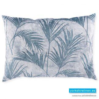 Tropical Palm Pillow Sham, Silver Teal