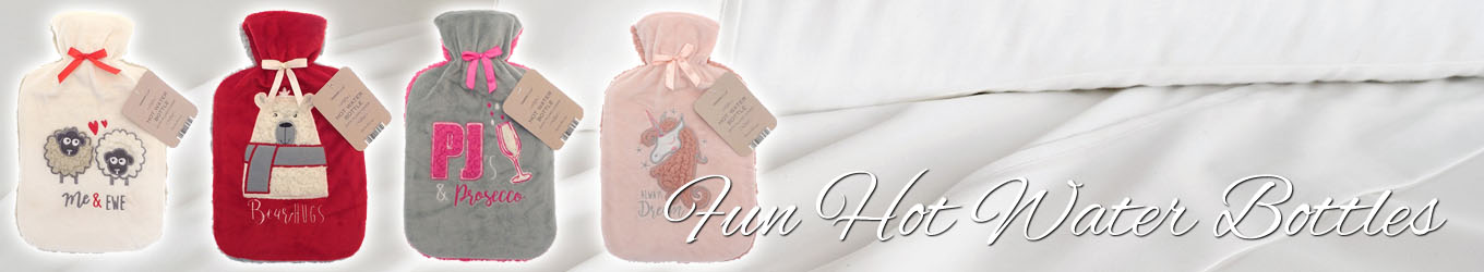 Warm and Cosy Hot Water Bottles with Removable Washable Covers