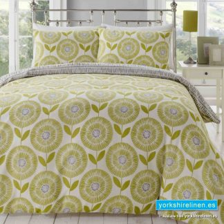 Ada Green Duvet Cover Set - Yorkshire Linen Warehouse Mijas Prestige Marbella