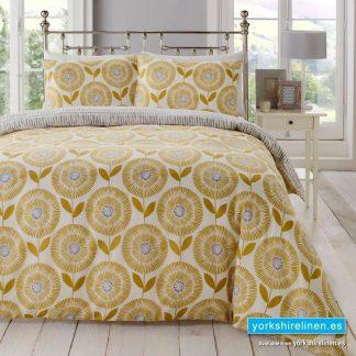 Ada Ochre Duvet Cover Set - Yorkshire Linen Warehouse Mijas Prestige Marbella
