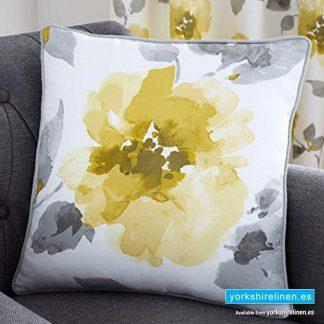 Adriana Floral Ochre Cushion - Yorkshire Linen Warehouse Mijas Prestige Marbella