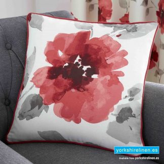Adriana Floral Red Cushion - Yorkshire Linen Warehouse Mijas Prestige Marbella