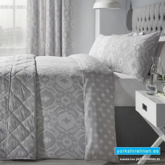 Alford Silver Duvet Cover Set - Yorkshire Linen Warehouse Mijas Prestige Marbella