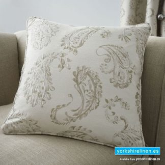Ashford Paisley Natural Cushion - Yorkshire Linen Warehouse Mijas Prestige Marbella