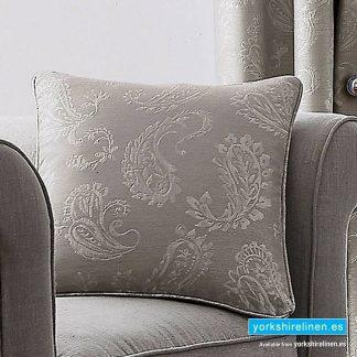 Ashford Paisley Silver Cushion - Yorkshire Linen Warehouse Mijas Prestige Marbella