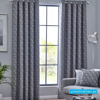 Byron Graphite Ring Top Curtains - Yorkshire Linen Warehouse Mijas Prestige Marbella