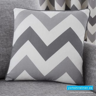 Chevron Grey Cushion - Yorkshire Linen Warehouse Mijas Prestige Marbella