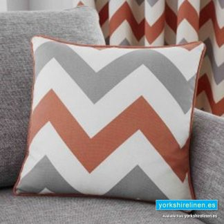 Chevron Paprika Cushion - Yorkshire Linen Warehouse Mijas Prestige Marbella