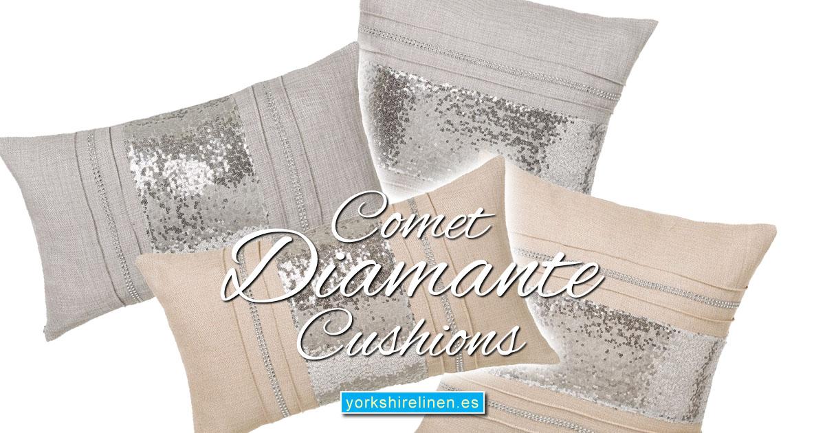 Comet Diamante Cushions - Yorkshire Linen Warehouse Mijas Prestige Marbella