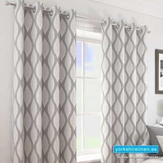 Deco Silver Ring Top Curtains - Yorkshire Linen Warehouse Mijas Prestige Marbella
