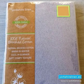 Fitted Flannelette Sheet Silver Grey - Yorkshire Linen Warehouse Mijas Prestige Marbella
