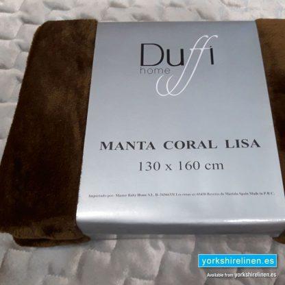 Lisa So Soft Throw Chocolate - Yorkshire Linen Warehouse Mijas Prestige Marbella