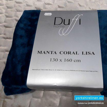 Lisa So Soft Throw Navy - Yorkshire Linen Warehouse Mijas Prestige Marbella