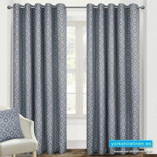Milano Silver Ring Top Curtains - Yorkshire Linen Warehouse Mijas Prestige Marbella