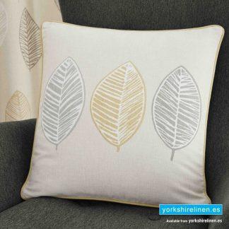 Skandi Leaf Ochre Cushion - Yorkshire Linen Warehouse Mijas Prestige Marbella