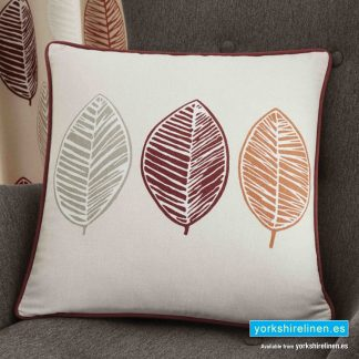 Skandi Leaf Red Cushion - Yorkshire Linen Warehouse Mijas Prestige Marbella