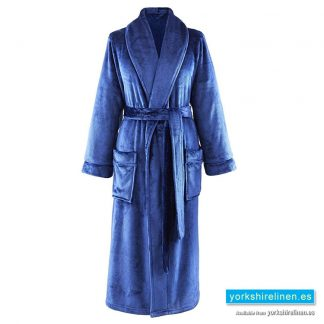 So Soft Navy Blue Dressing Gown - Yorkshire Linen Warehouse Spain