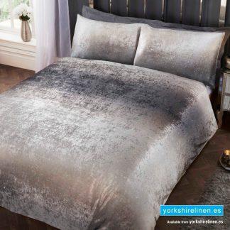 Stardust Ombre Silver Duvet Cover Set - Yorkshire Linen Warehouse Mijas Prestige Marbella
