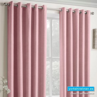 Vogue Blush Blockout Ring Top Curtains