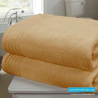 Zero Twist Bath Towel, Ochre - Yorkshire Linen Warehouse Mijas Prestige Marbella