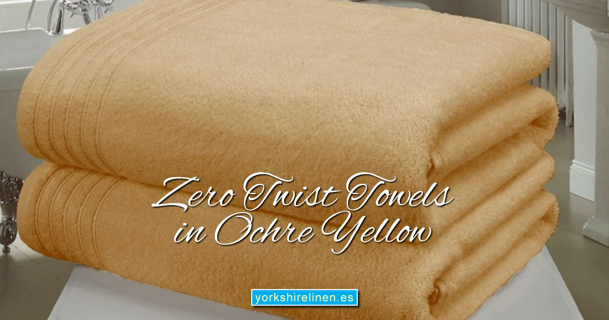 Zero Twist Towels in Beautiful Ochre Yellow - Yorkshire Linen Warehouse Mijas Prestige Marbella