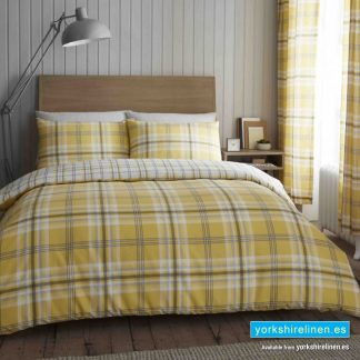Kelso Ochre Duvet Cover Set - Yorkshire Linen Warehouse Mijas Prestige Marbella