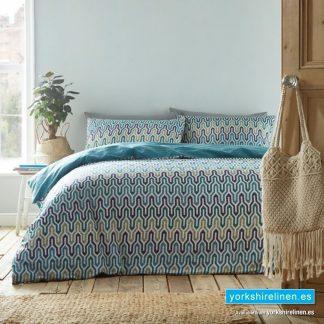 Riley Aqua Duvet Cover Set - Yorkshire Linen Warehouse Mijas Prestige Marbella